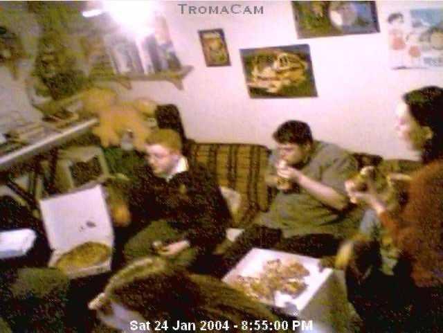 Troma Night XXI, captured on the Troma Night Webcam