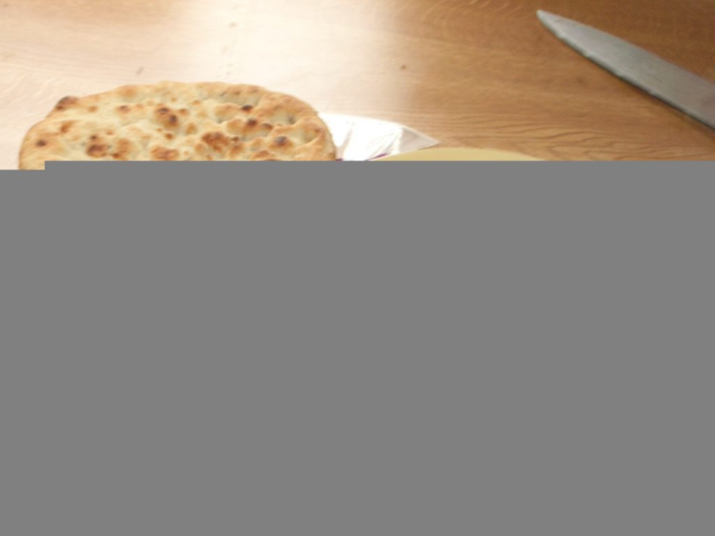 Paul's lunch on this day 13 years ago: Birmingham Egg with Naan Bread