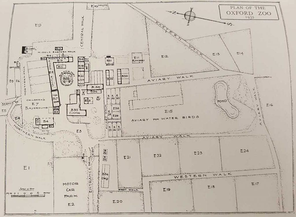Map of Oxford Zoo in 1932