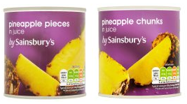 Pineapple chunks vs. pineapple pieces