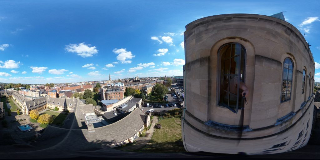 View from Nuffield College library tower.