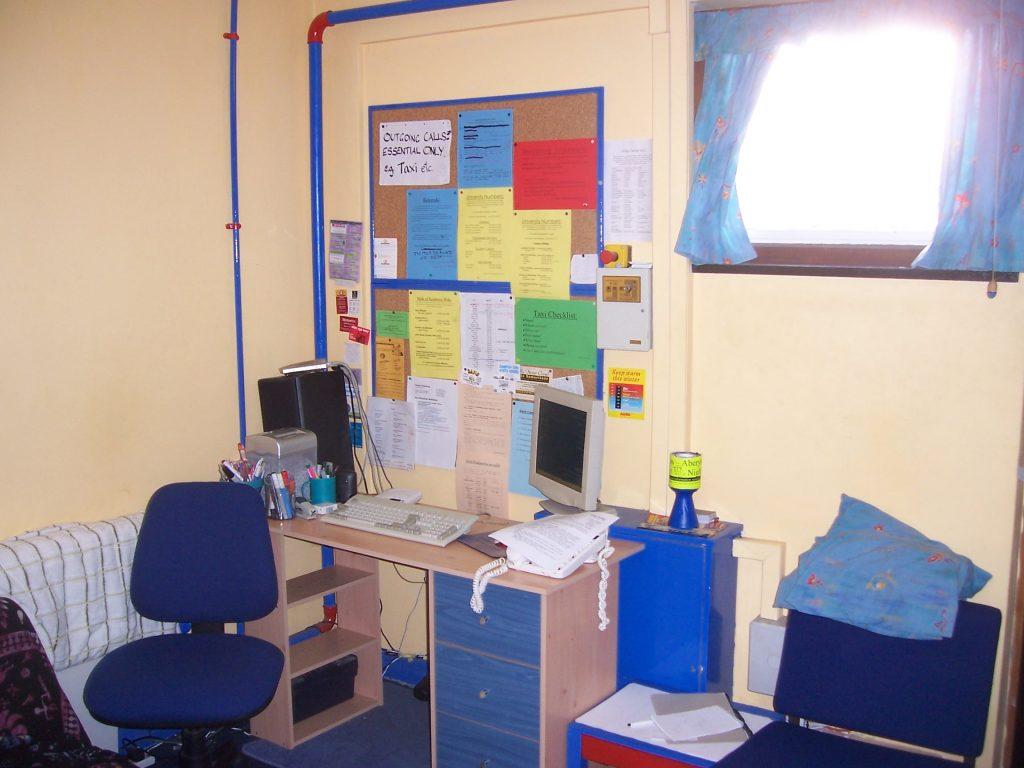 Aberystwyth Nightline calltaking office circa 2006