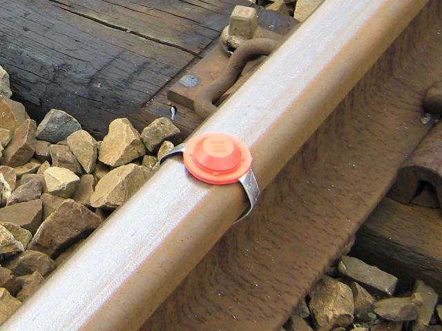 Detonator on railway track