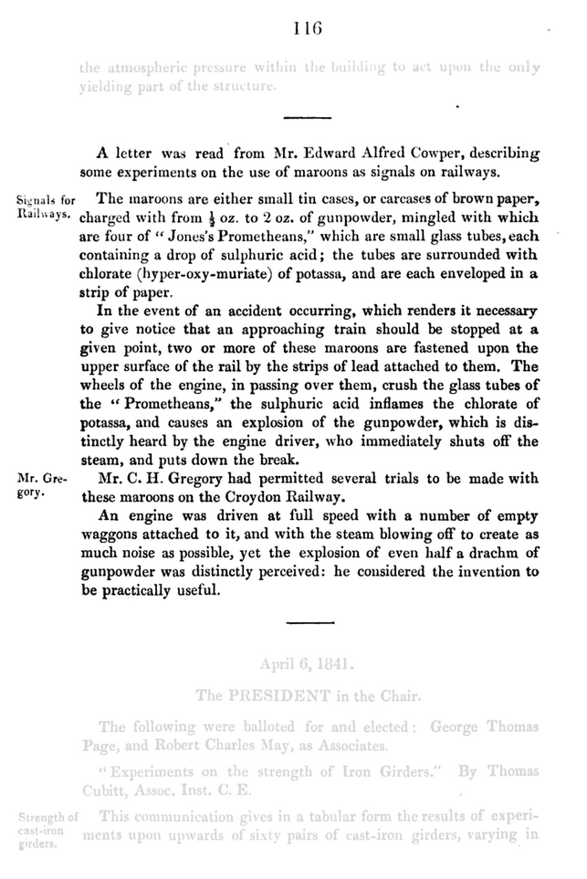 Page 116 of the Minutes of Proceedings of the Institution of Civil Engineers, Volume 1
