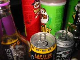 Pringles and beer