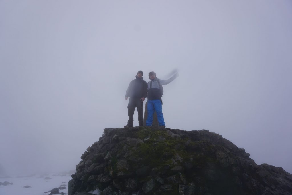 Dan & Robin at the summit of Ben Nevis