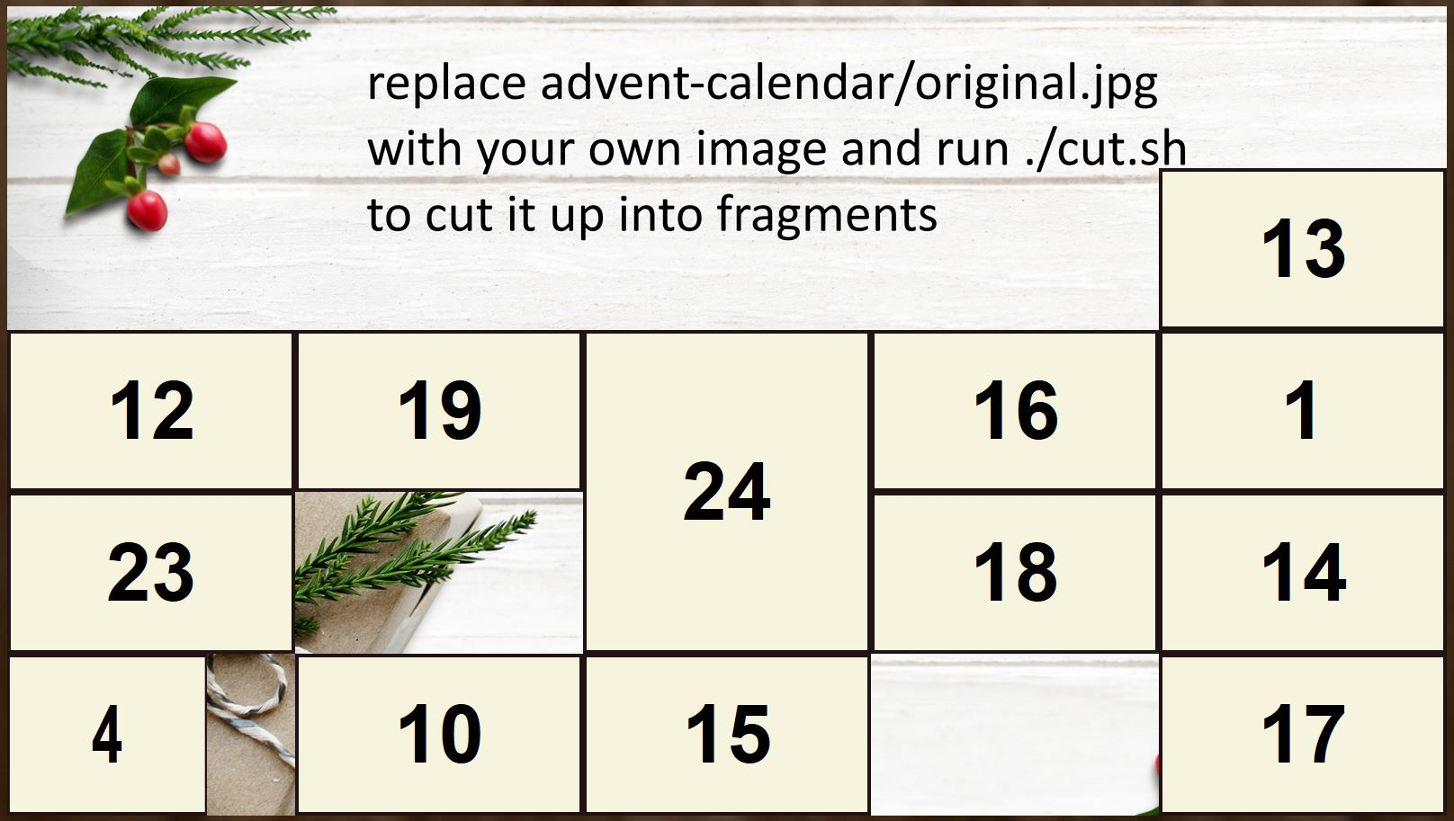 Sample advent calendar