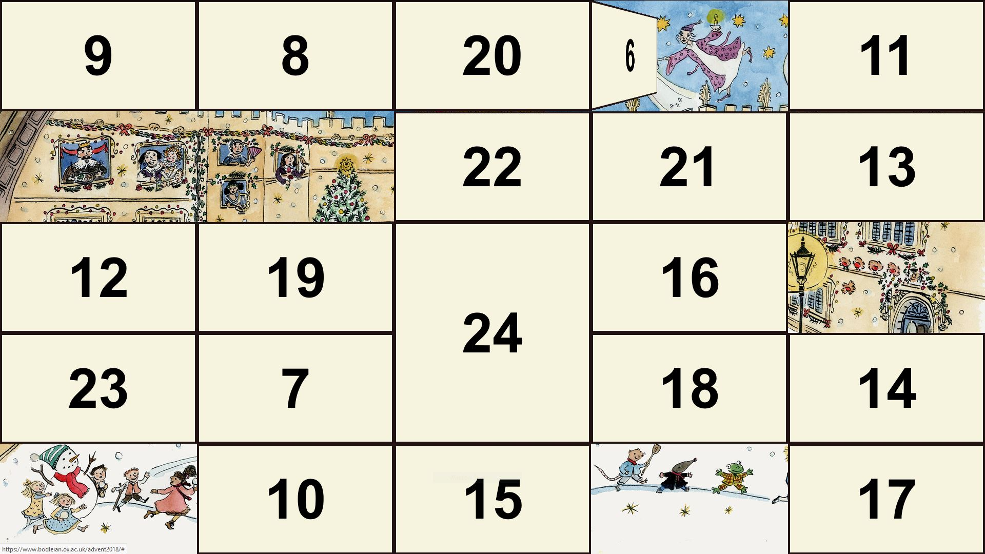 Bodleian 2018 digital advent calendar