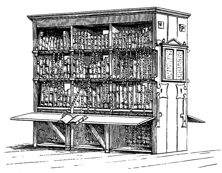 Illustration of a chained library