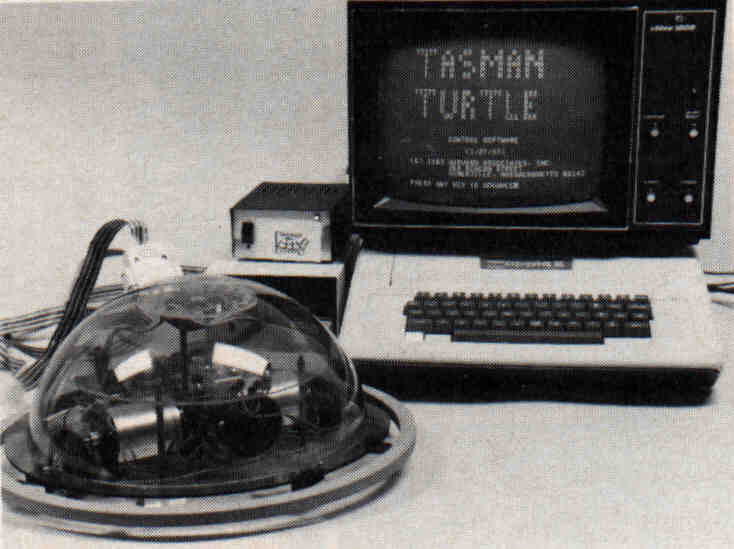Hardware turtle and microcomputer.