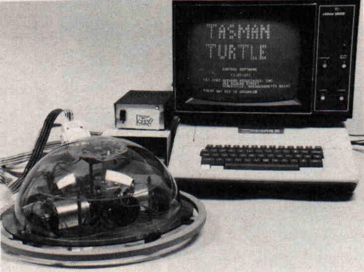 Hardware turtle and microcomputer.