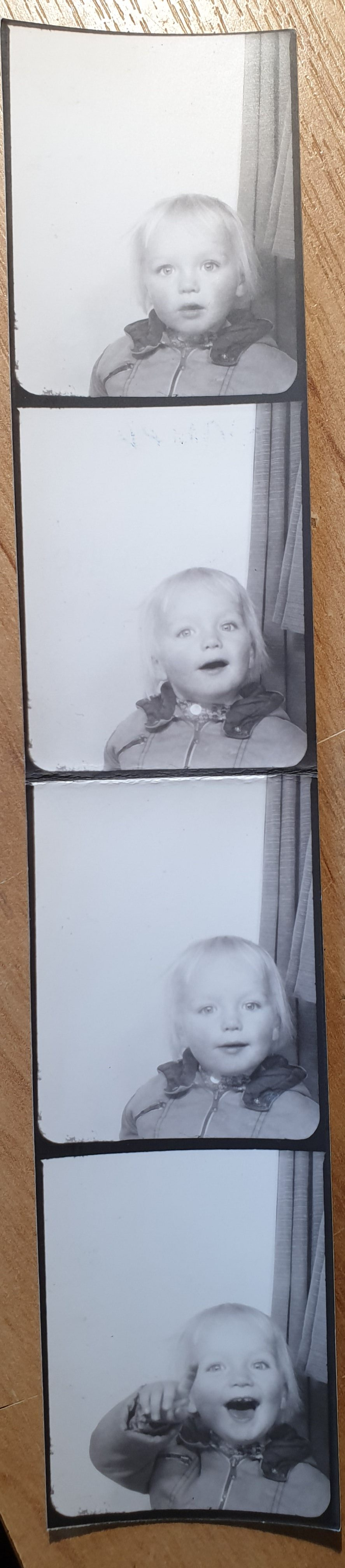 Dan, ~22 months old, in a photo booth