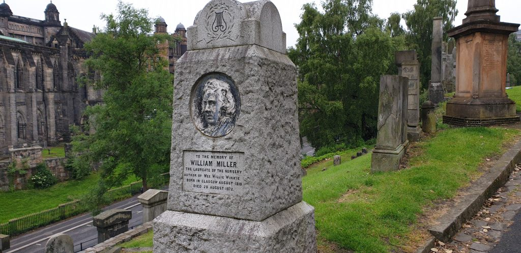 Gravestone of William Miller, author of Wee Willie Winkie