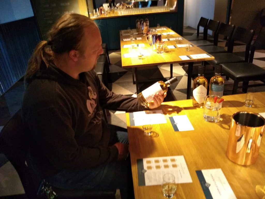 Dan at the whisky tasting.