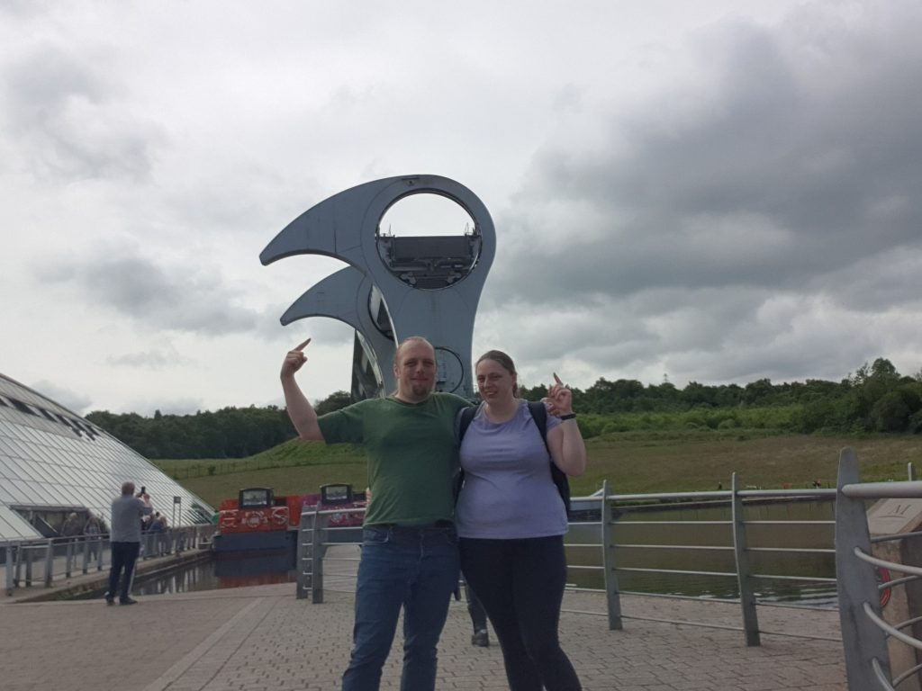 Dan and Ruth at the Falkirk Wheel