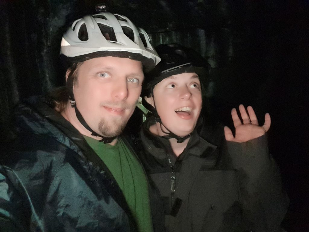 Dan and Ruth in the Falkirk Tunnel (edited: redeye removed)