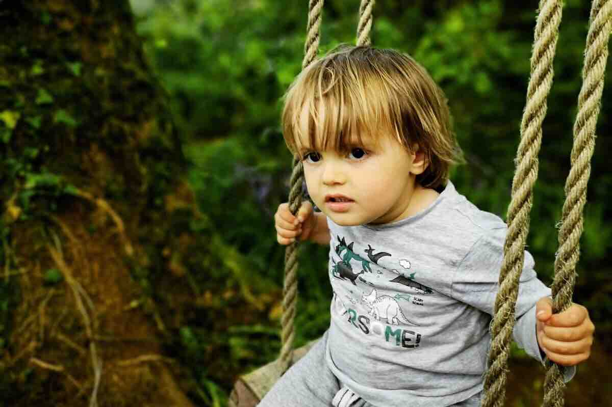 Lorcán on a swing