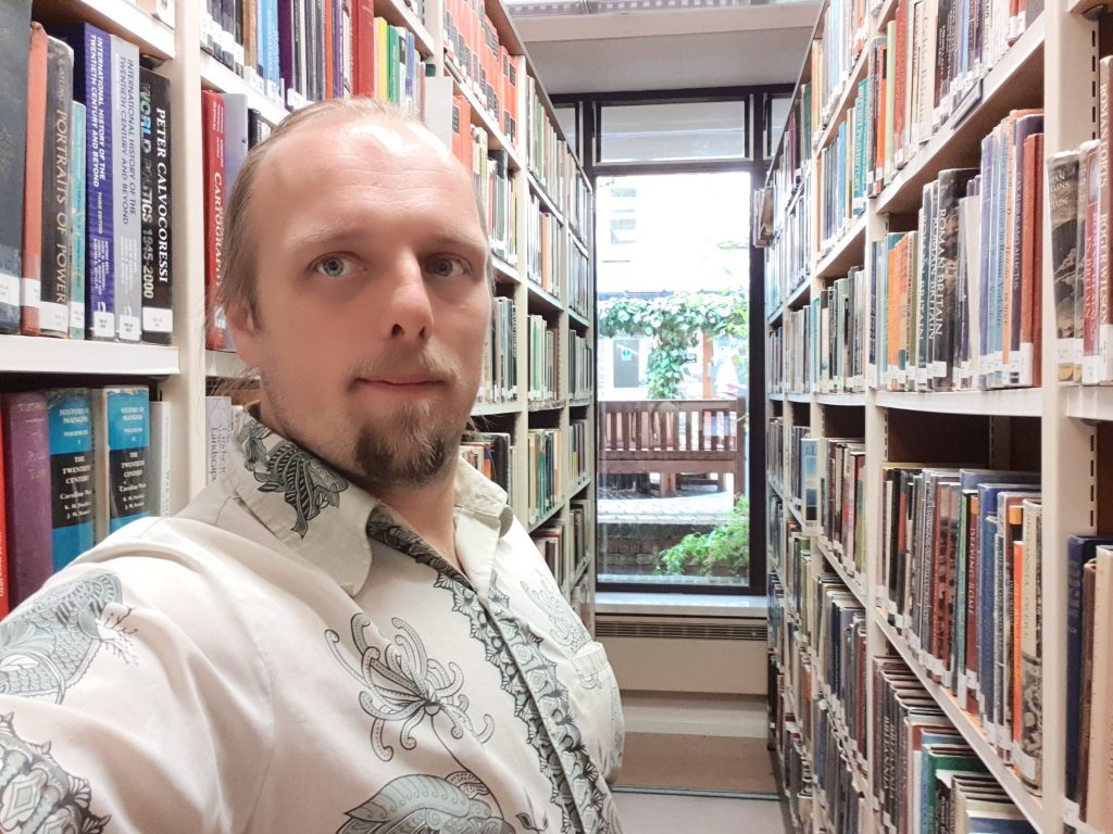 Dan in the Rewley Library at the University of Oxford.