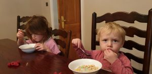 John and Annabel eat breakfast on Tuesday morning #2.