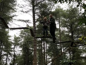 Annabel and Ruth on the high ropes #2.