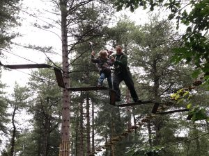 Annabel and Ruth on the high ropes #1.