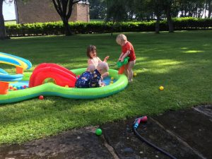 The kids in the paddling pool #2.