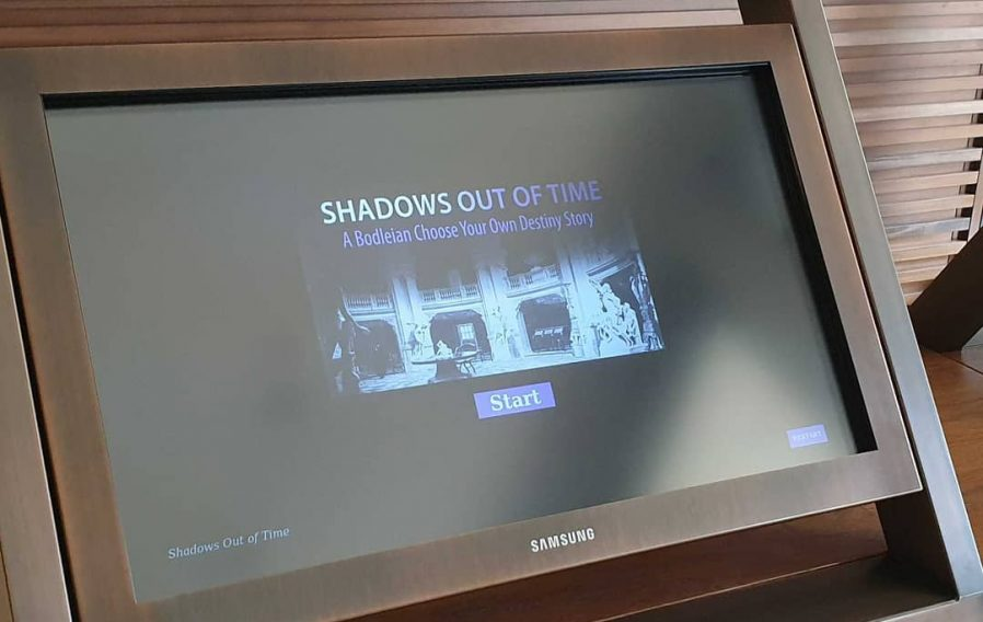 Shadows Out Of Time on a touchscreen