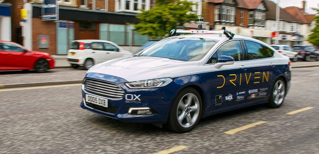 Oxbotica Driven self-driving car in Oxford.