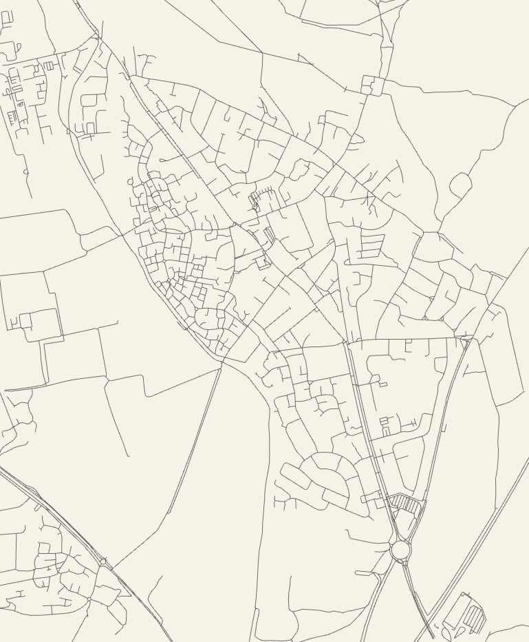 Map of Kidlington's roads