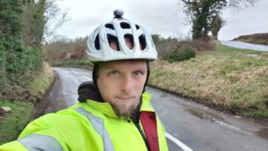 Reaching the edge of the Cotswolds by bike
