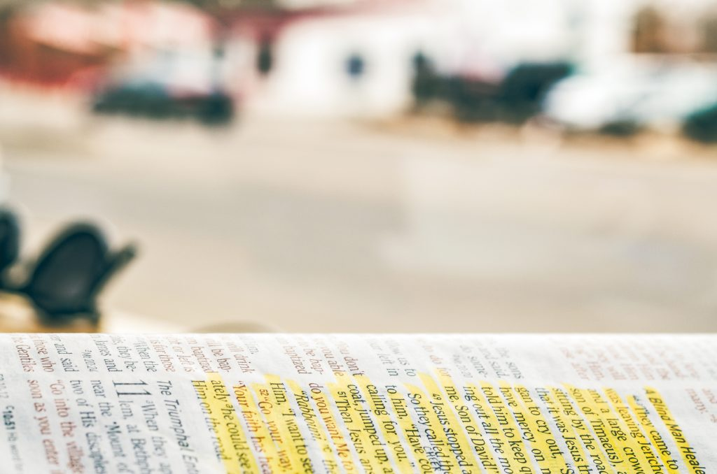Annotated bible.