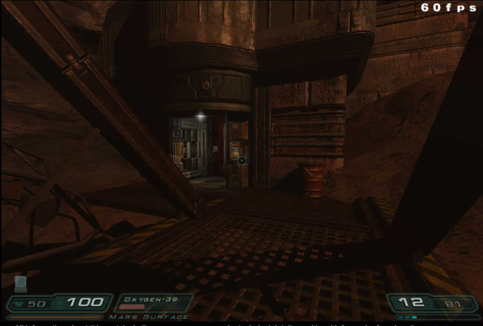 Doom 3 running in Dan's web browser