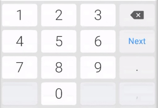 Android number pad