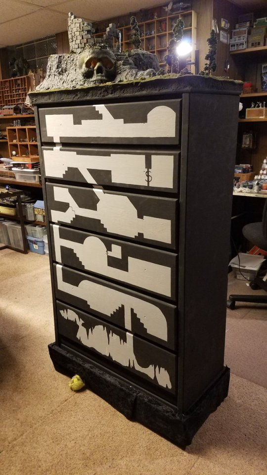 Drawers with a dungeon inside