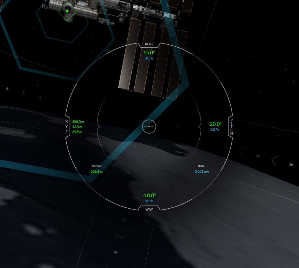 SpaceX ISS Docking Simulator: Screenshot