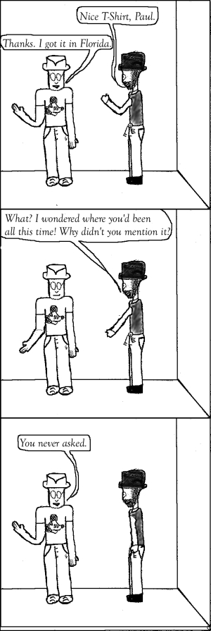 The Aber Effect comic 7 (Holiday) featuring Paul and JTA