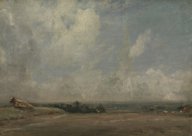 A View from Hampstead Heath, ca. 1825, by John Constable