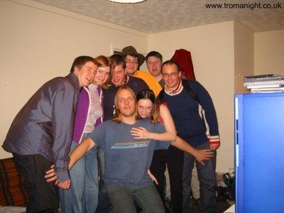 Mark, Sian, Alec, Paul, Kit, Adam, Dan and Claire at Troma Night V.