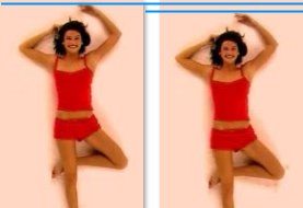 Two starting frames from the videos, annotated to show that they are not aligned to the same point.