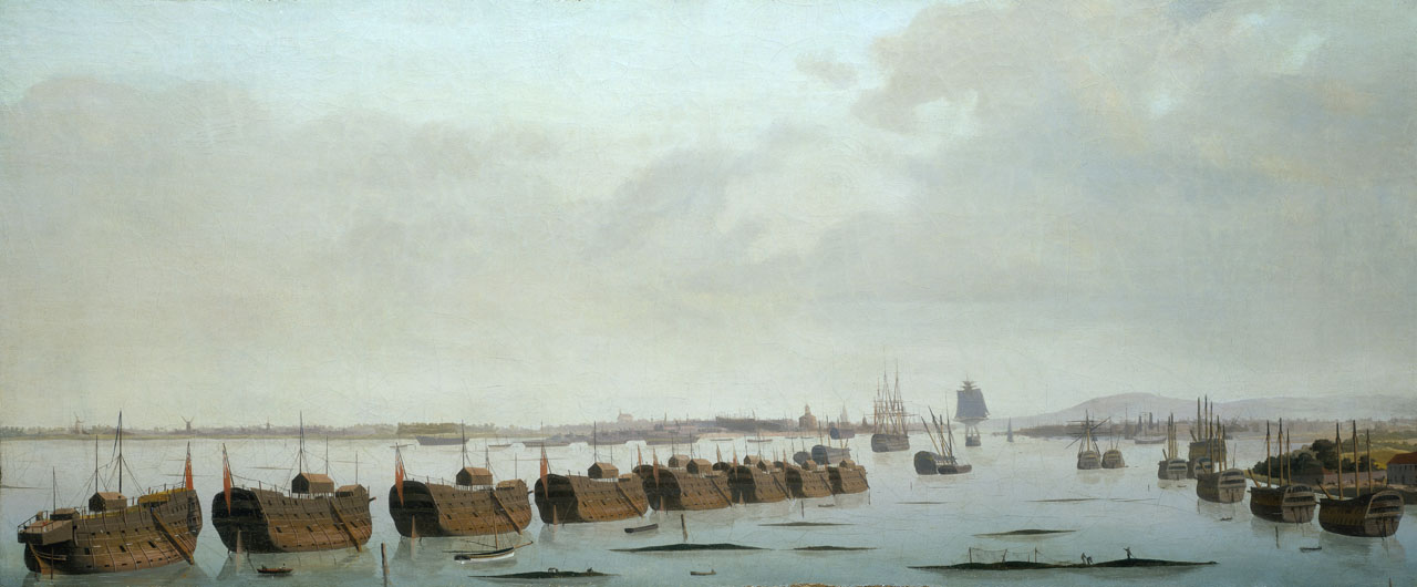 Prison Hulks in Portsmouth Harbour by Ambrose-Louis Garneray