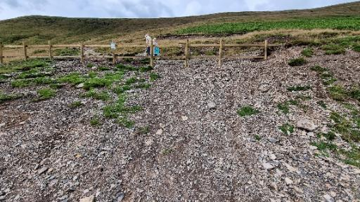 Diverted path owing to human-caused erosion