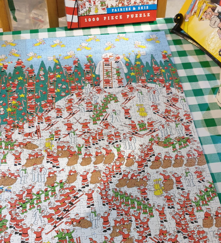 """A completed 1000-piece """"Where's Wally?"""" jigsaw."""