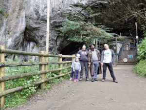 Dan, Ruth, JTA and the kids outside the Devil's Arse.