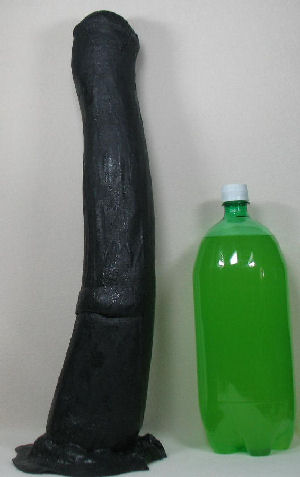 Large dildo to the base - 3 8